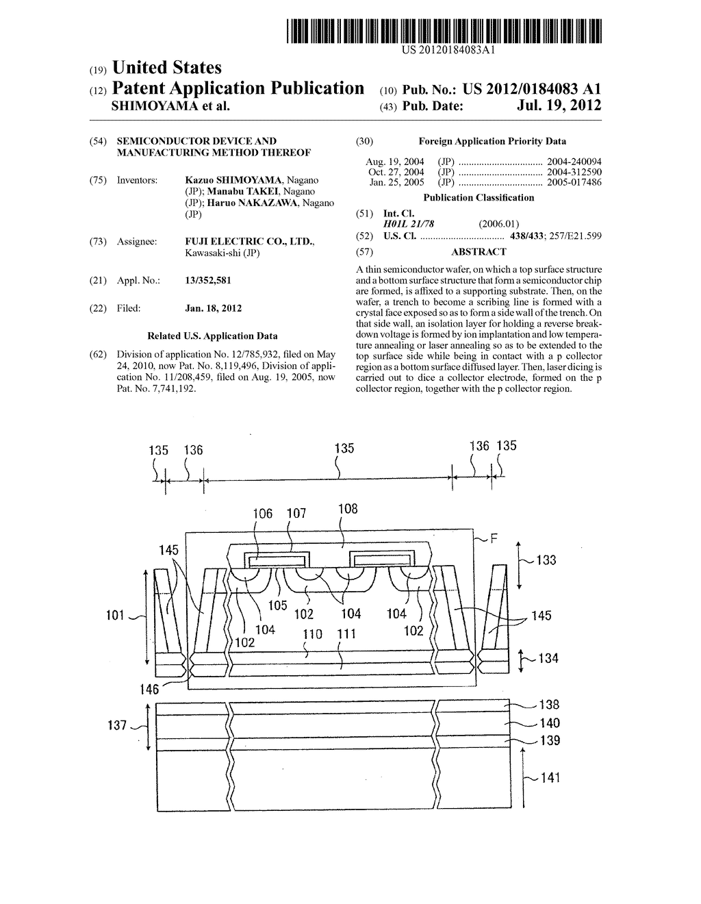 SEMICONDUCTOR DEVICE AND MANUFACTURING METHOD THEREOF - diagram, schematic, and image 01