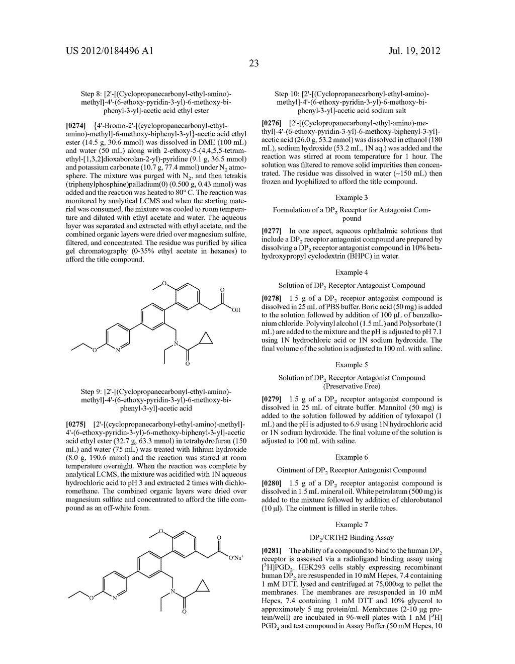 OPHTHALMIC PHARMACEUTICAL COMPOSITIONS OF DP2 RECEPTOR ANTAGONISTS - diagram, schematic, and image 29