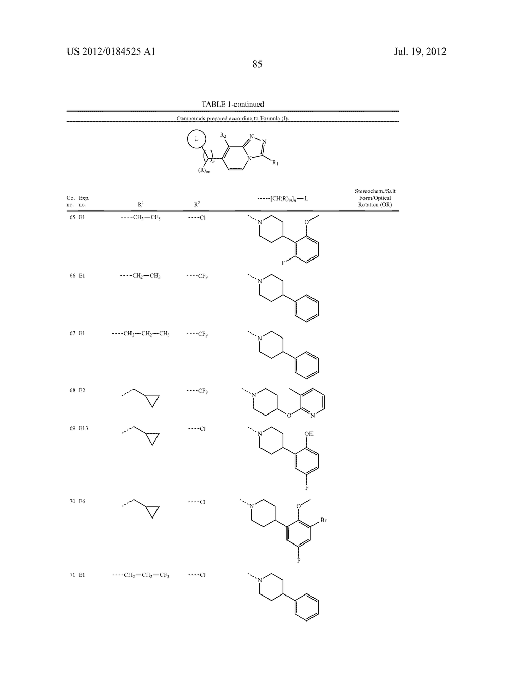 1,2,3-TRIAZOLO [4,3-A] PYRIDINE DERIVATIVES AND THIER USE FOR THE     TREATMENT OF PREVENTION OF NEUROLOGICAL AND PSYCHIATRIC DISORDERS - diagram, schematic, and image 86