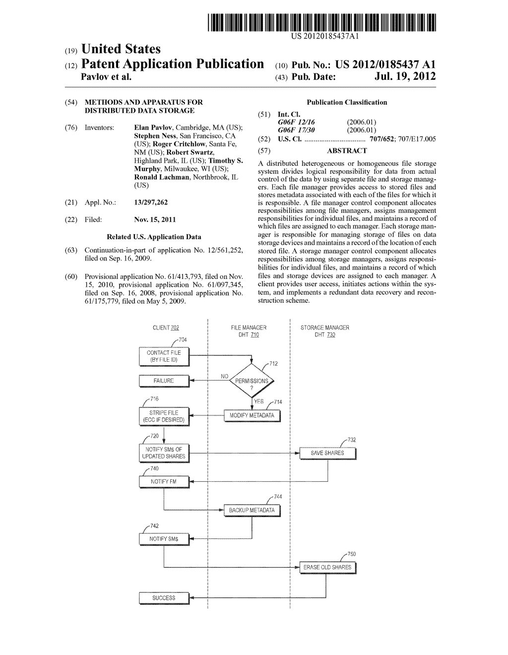 Methods and Apparatus for Distributed Data Storage - diagram, schematic, and image 01