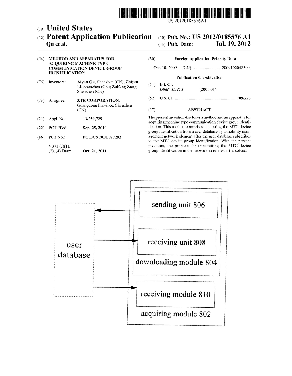 Method and Apparatus for Acquiring Machine Type Communication Device Group     Identification - diagram, schematic, and image 01
