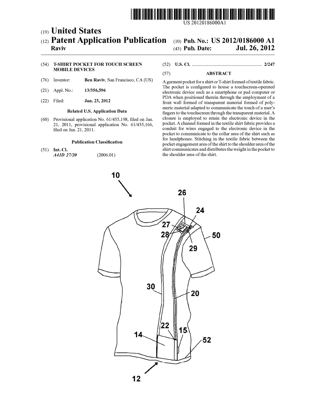 T-shirt Pocket for Touch Screen Mobile Devices - diagram ...