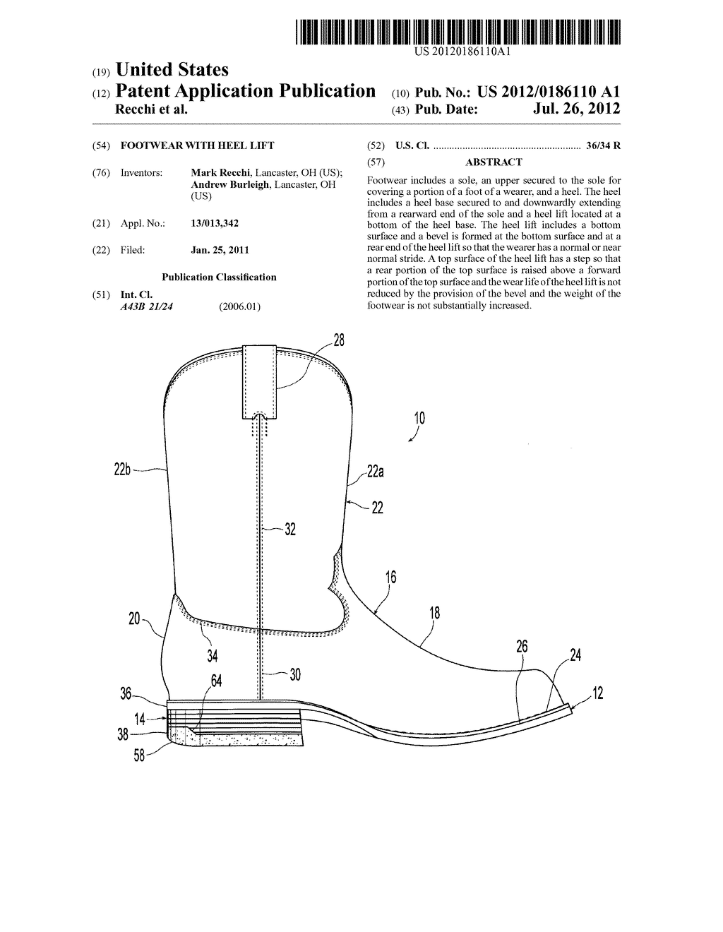 FOOTWEAR WITH HEEL LIFT - diagram, schematic, and image 01