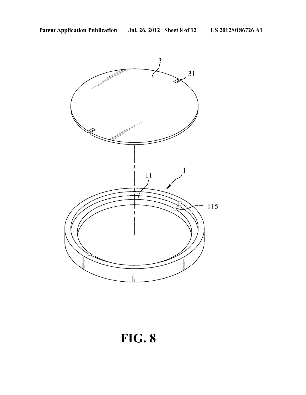 Method Of Filling And Sealing A Fluorescent Layer In A Slot Space Defined     By Two Optical Lenses And A Partition Ring - diagram, schematic, and image 09
