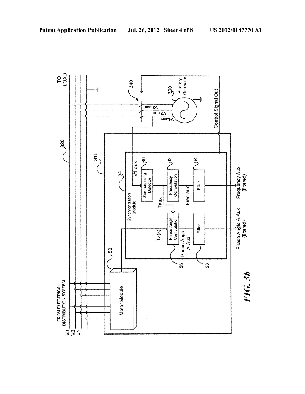 SYSTEM AND METHOD FOR SYNCHRONIZING MULTIPLE GENERATORS WITH AN ELECTRICAL  POWER DISTRIBUTION SYSTEM - diagram, schematic, and image 05