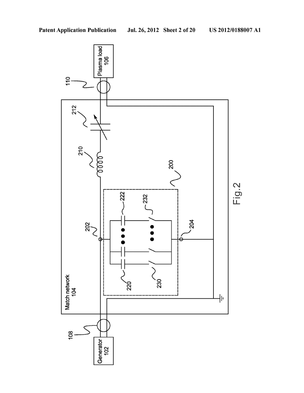 Impedance-Matching Network Using BJT Switches in Variable-Reactance