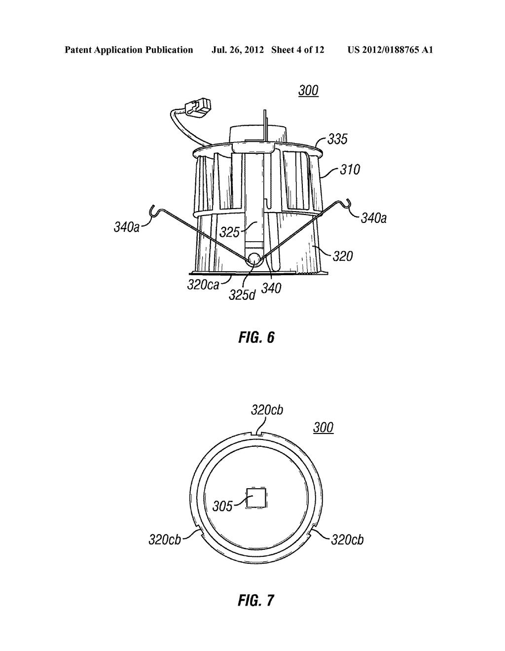 light emitting diode recessed light fixture diagram schematic rh patentsencyclopedia com Recessed Kitchen Lighting Product Recessed Lighting Design