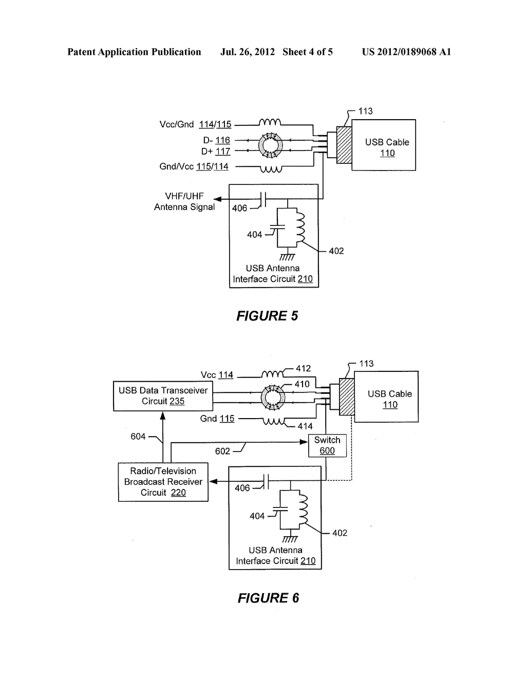 Electronic Terminals And Methods Using A Usb Cable As Rf Broadcast Antenna Circuit Diagram Signal Schematic Image 05