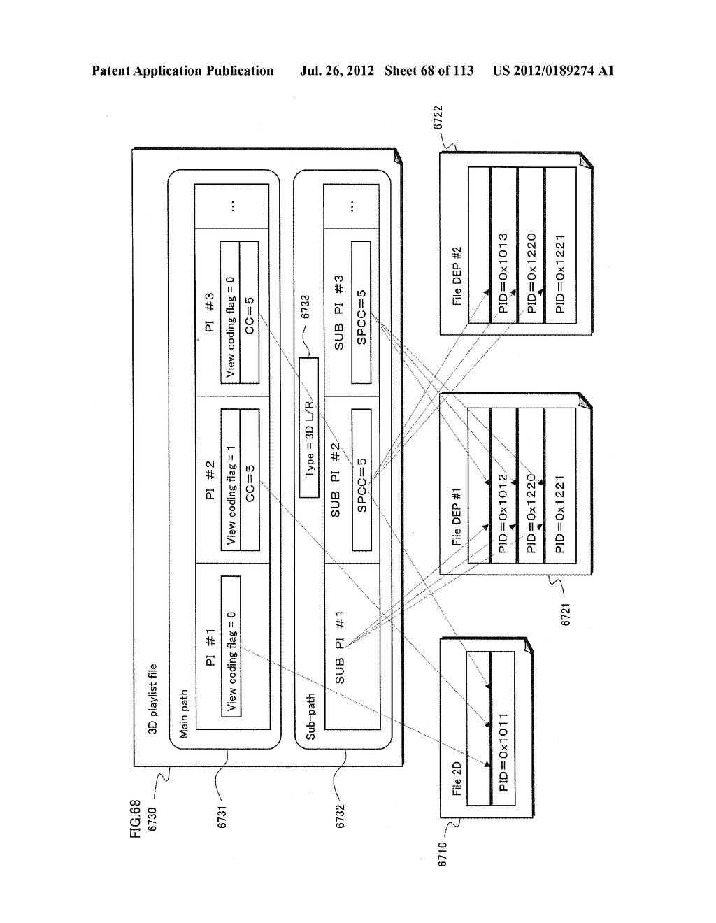 RECORDING MEDIUM, RECORDING DEVICE, ENCODING DEVICE, INTEGRATED CIRCUIT,     AND REPRODUCTION OUTPUT DEVICE - diagram, schematic, and image 69