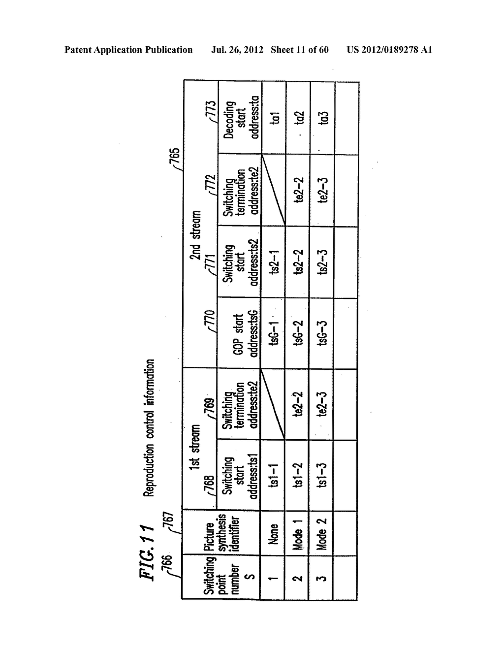 OPTICAL DISK FOR HIGH RESOLUTION AND GENERAL VIDEO RECORDING, OPTICAL DISK     REPRODUCTION APPARATUS, OPTICAL DISK RECORDING APPARATUS, AND     REPRODUCTION CONTROL INFORMATION GENERATION APPARATUS - diagram, schematic, and image 12