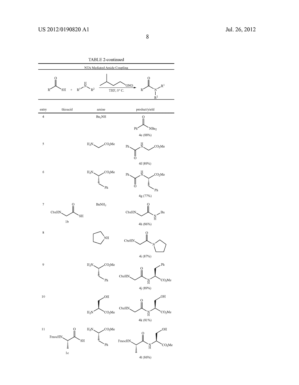 FACILE AMIDE FORMATION VIA S-NITROSO THIOACID INTERMEDIATES - diagram, schematic, and image 10
