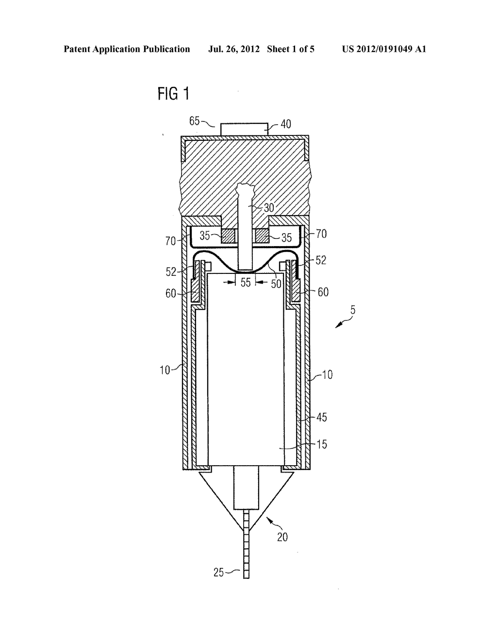 DRUG DELIVERY DEVICE AND METHOD OF MANUFACTURING A DRUG DELIVERY DEVICE - diagram, schematic, and image 02