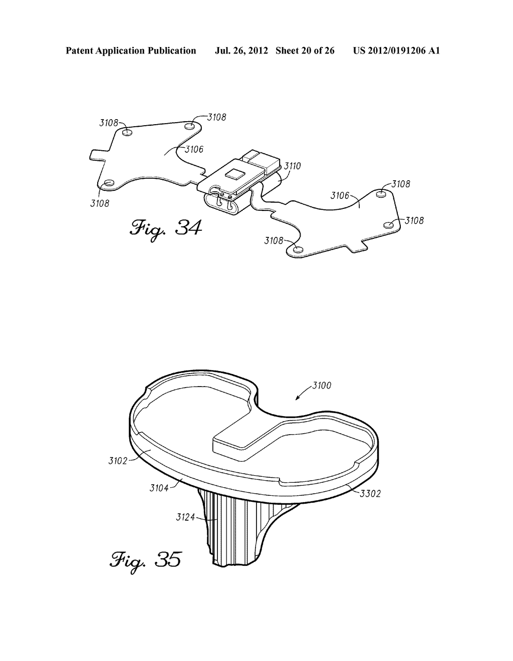 HERMETICALLY SEALED PROSTHETIC COMPONENT AND METHOD THEREFOR - diagram, schematic, and image 21