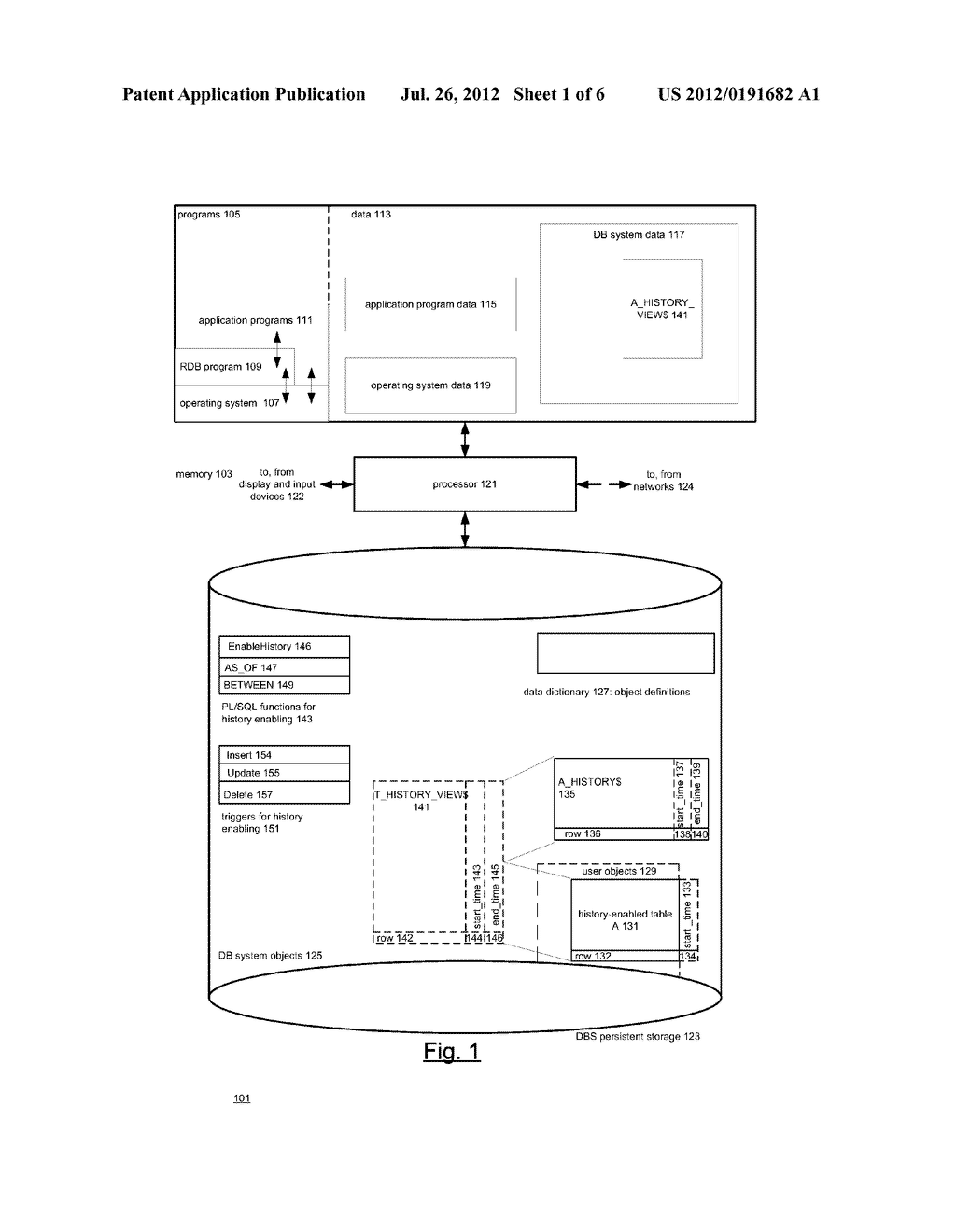 DATABASE SYSTEM THAT PROVIDES FOR HISTORY-ENABLED TABLES - diagram, schematic, and image 02