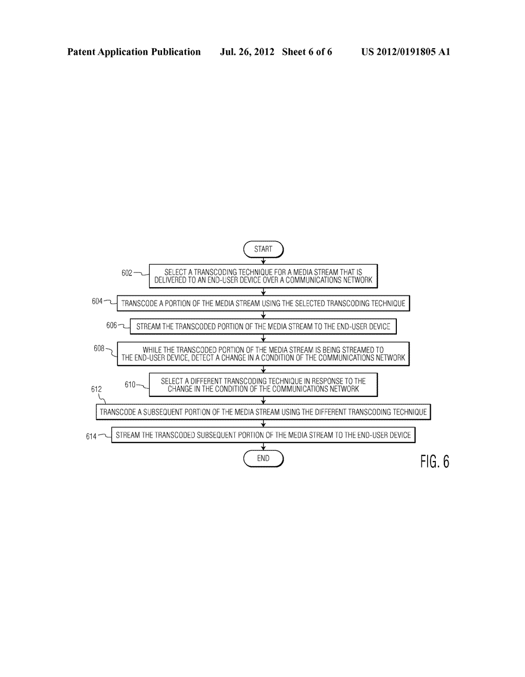METHOD AND TRANSCODING PROXY FOR TRANSCODING A MEDIA STREAM THAT IS     DELIVERED TO AN END-USER DEVICE OVER A COMMUNICATIONS NETWORK - diagram, schematic, and image 07