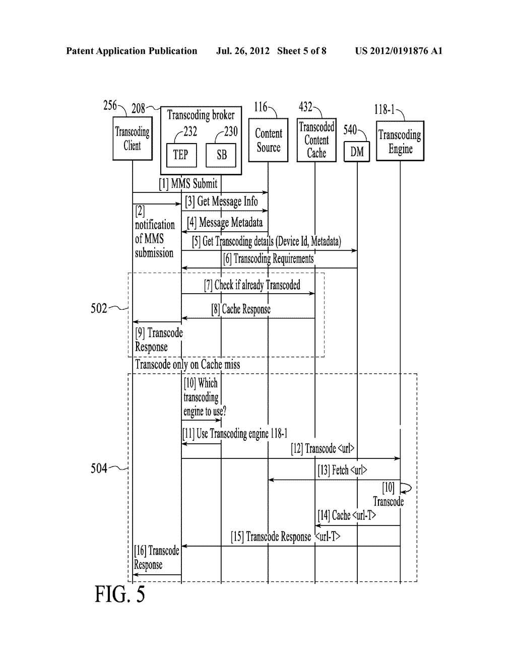 METHOD AND SYSTEM FOR POLICY BASED TRANSCODING BROKERING - diagram, schematic, and image 06