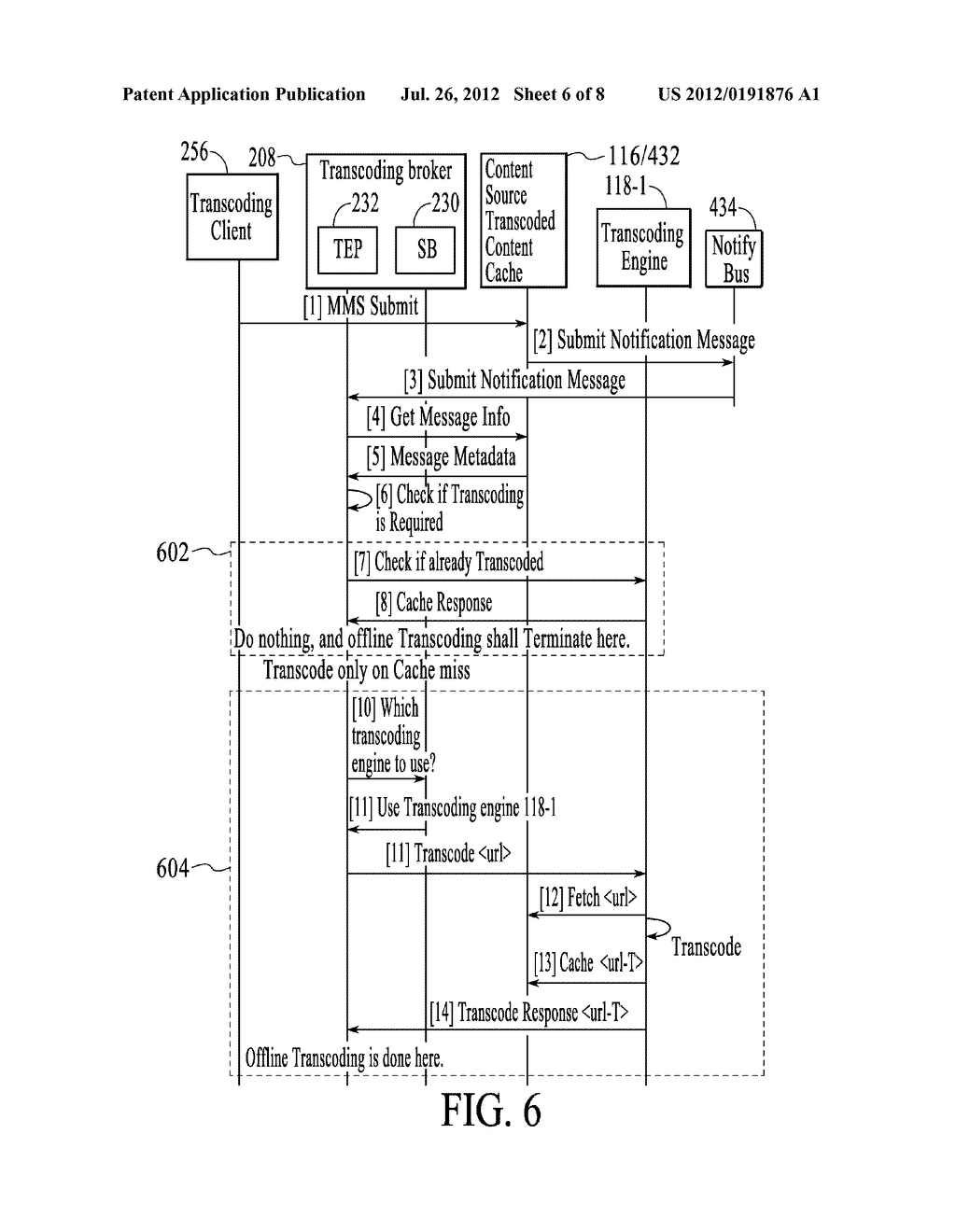 METHOD AND SYSTEM FOR POLICY BASED TRANSCODING BROKERING - diagram, schematic, and image 07