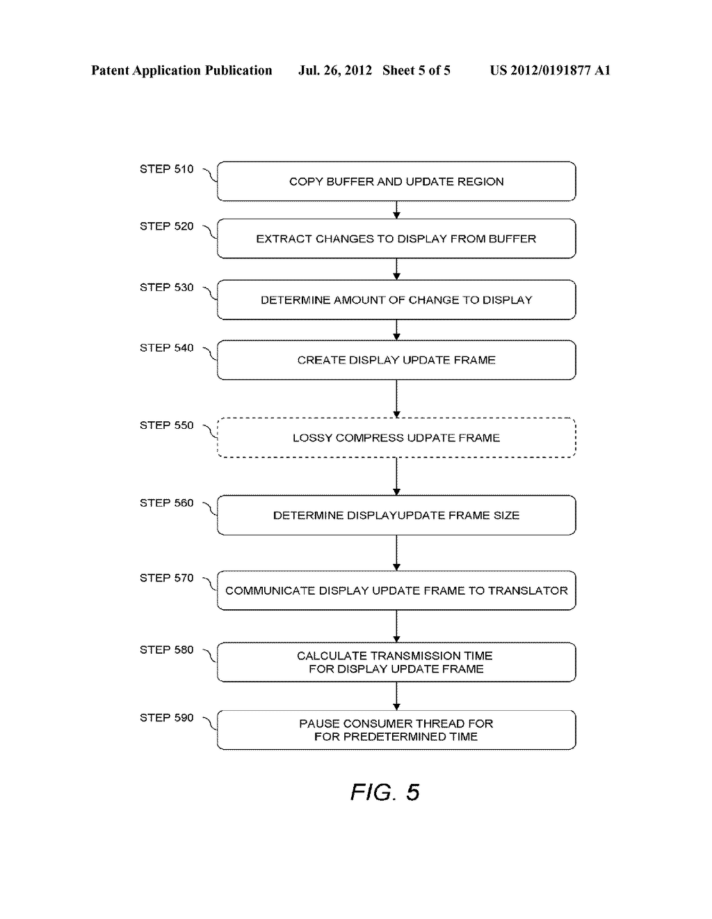 METHOD AND APPARATUS FOR UPDATING A GRAPHICAL DISPLAY IN A DISTRIBUTED     PROCESSING ENVIRONMENT - diagram, schematic, and image 06