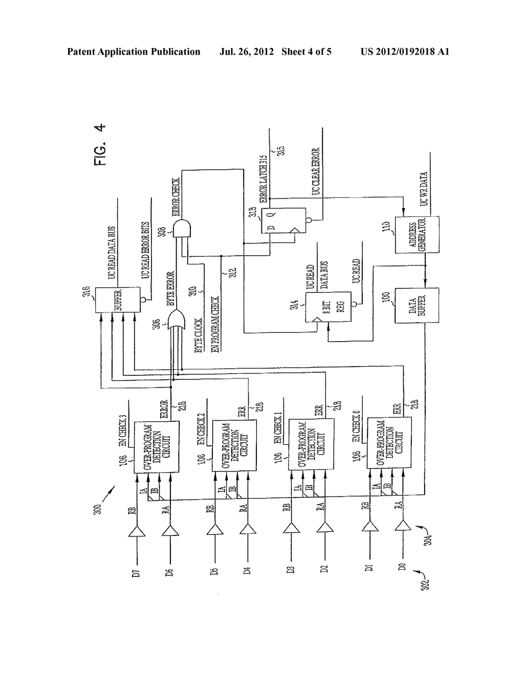 APPARATUS AND METHOD FOR DETECTING OVER-PROGRAMMING CONDITION IN     MULTISTATE MEMORY DEVICE - diagram, schematic, and image 05