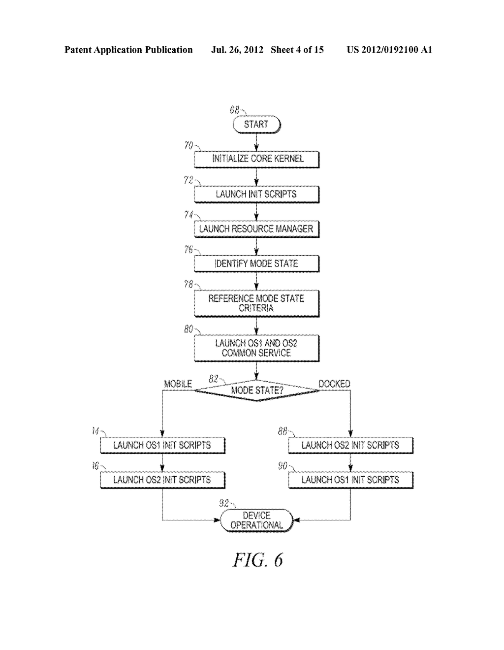 METHOD AND APPARATUS FOR LOCKING AND UNLOCKING MULTIPLE OPERATING SYSTEM     ENVIRONMENTS WITH A SINGLE GESTURE INPUT - diagram, schematic, and image 05