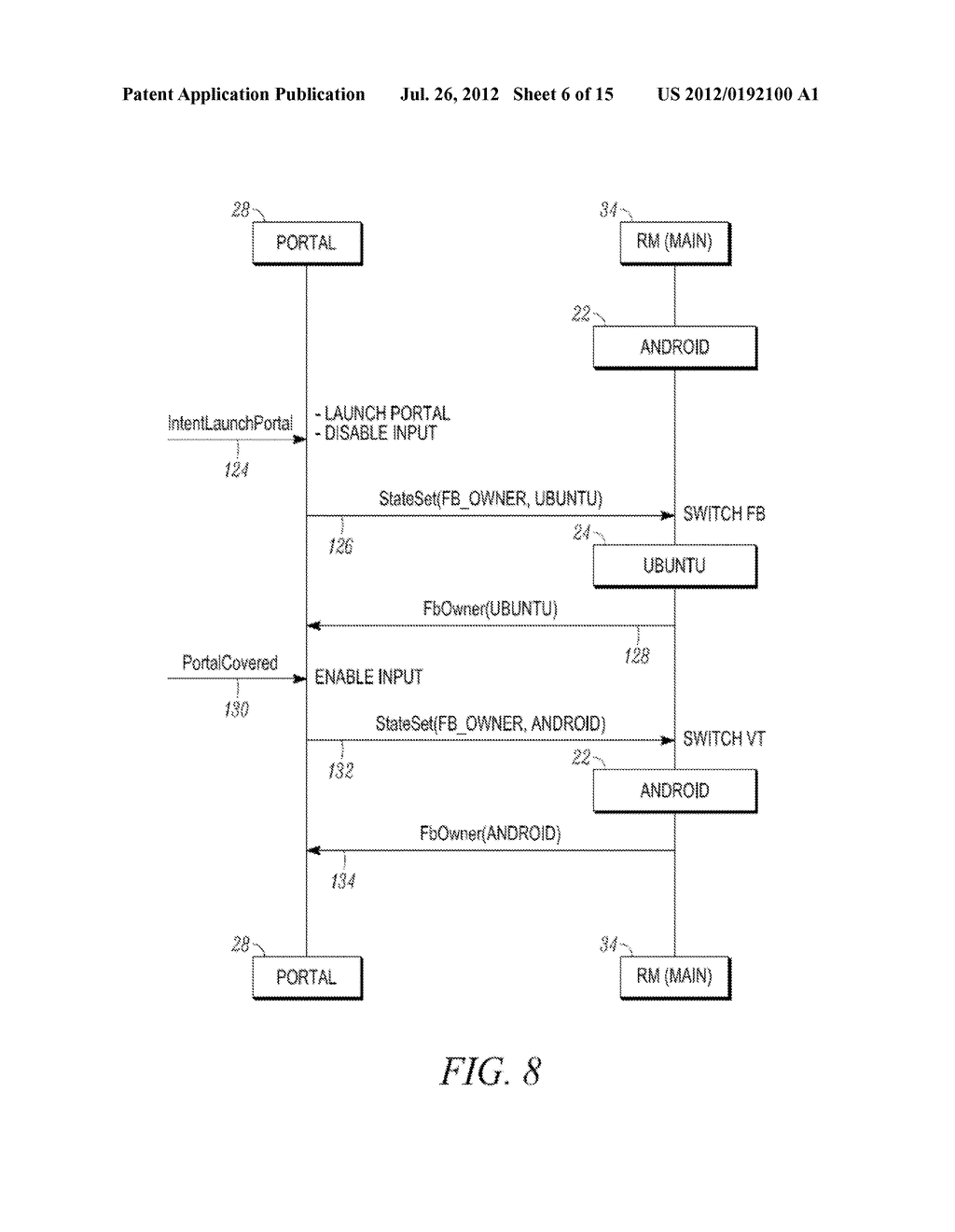 METHOD AND APPARATUS FOR LOCKING AND UNLOCKING MULTIPLE OPERATING SYSTEM     ENVIRONMENTS WITH A SINGLE GESTURE INPUT - diagram, schematic, and image 07