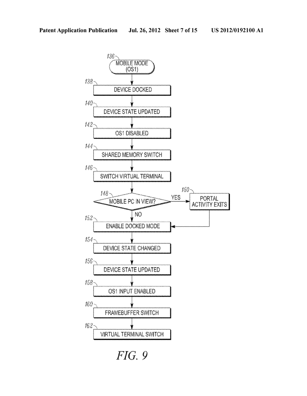 METHOD AND APPARATUS FOR LOCKING AND UNLOCKING MULTIPLE OPERATING SYSTEM     ENVIRONMENTS WITH A SINGLE GESTURE INPUT - diagram, schematic, and image 08