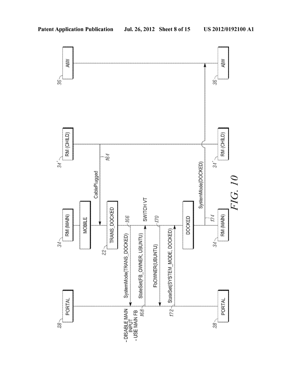 METHOD AND APPARATUS FOR LOCKING AND UNLOCKING MULTIPLE OPERATING SYSTEM     ENVIRONMENTS WITH A SINGLE GESTURE INPUT - diagram, schematic, and image 09