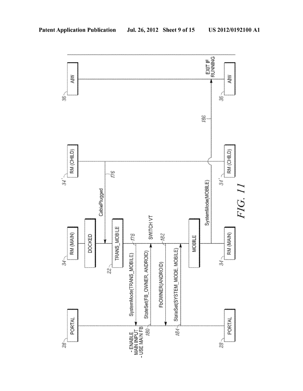 METHOD AND APPARATUS FOR LOCKING AND UNLOCKING MULTIPLE OPERATING SYSTEM     ENVIRONMENTS WITH A SINGLE GESTURE INPUT - diagram, schematic, and image 10