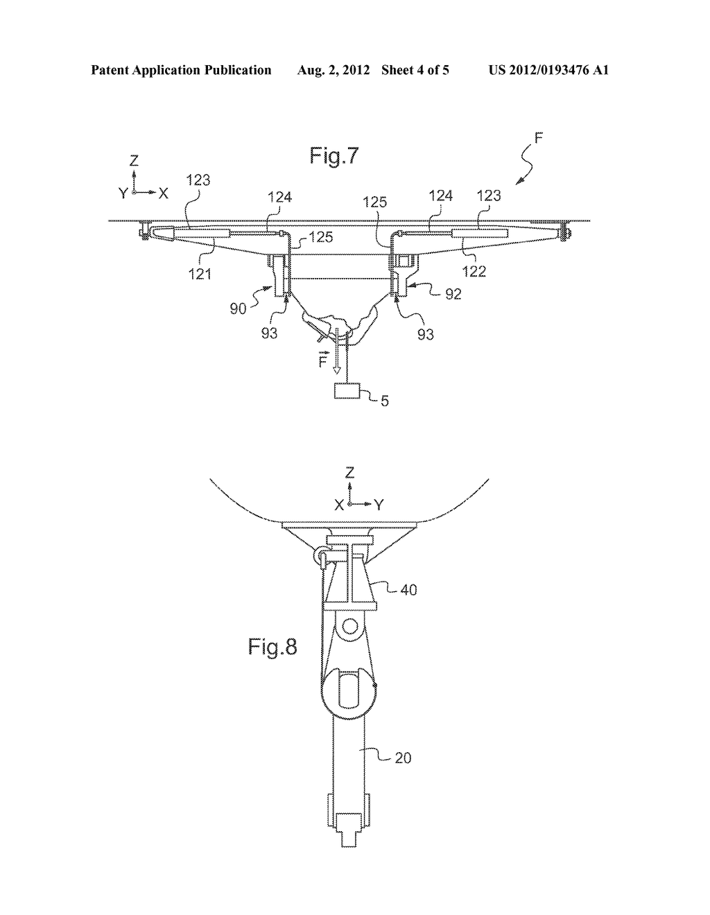 REMOVABLE FASTENER DEVICE EQUIPPED WITH ATTACHMENT MEANS FOR ATTACHING AN     EXTERNAL LOAD AND WITH FASTENER MEANS FOR FASTENING SAID ATTACHMENT MEANS     TO AN AIRCRAFT, AN ASSOCIATED AIRCRAFT, AND AN ASSOCIATED METHOD - diagram, schematic, and image 05