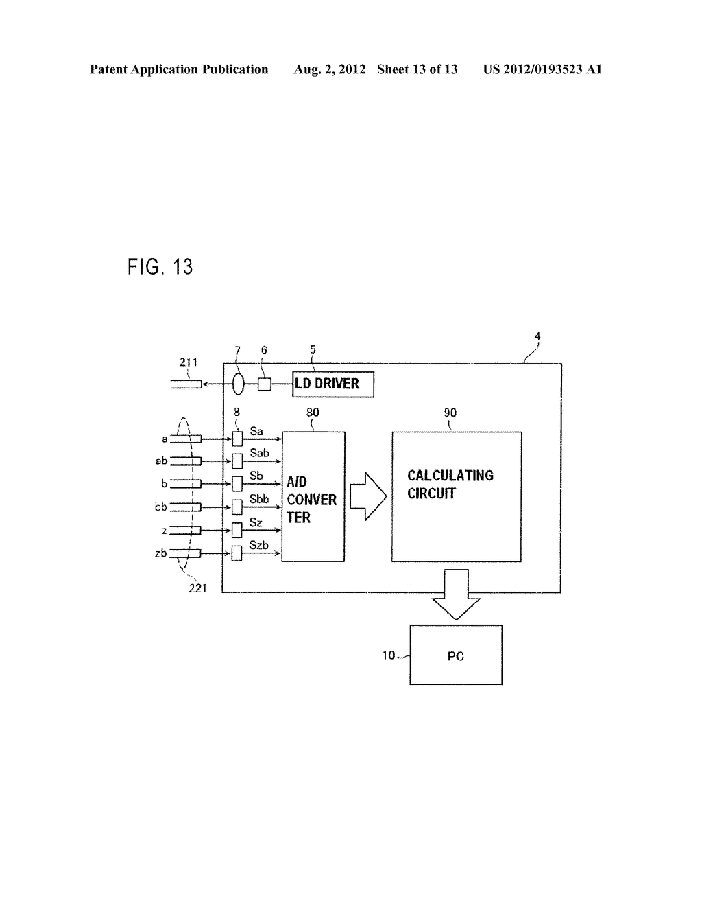 OPTICAL ENCODER WITH MISALINGMENT DETECTION AND ADJUSTMENT METHOD     ASSOCIATED THEREWITH - diagram, schematic, and image 14