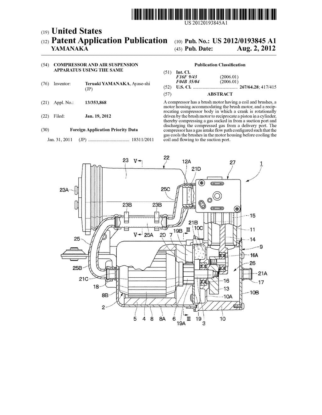 Compressor And Air Suspension Apparatus Using The Same Diagram Schematic Image 01
