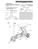 FOLDABLE MOTORIZED VEHICLE WITH FRAME CONNECTING AND FRAME LOCKING     MECHANISMS diagram and image