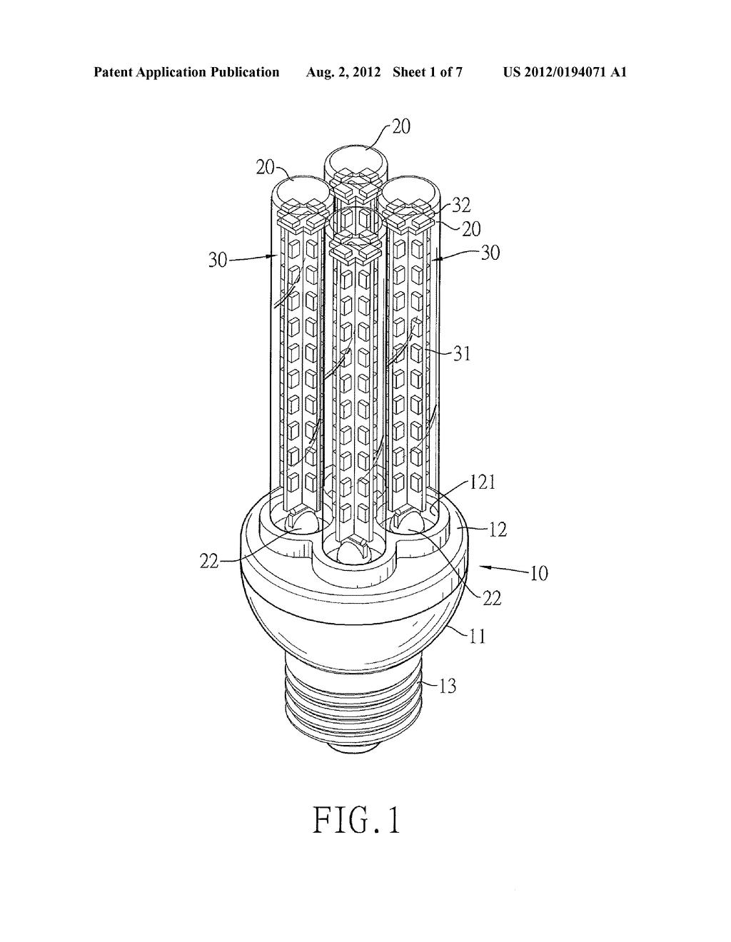 multi tubular led light bulb diagram schematic and image 02 rh patentsencyclopedia com led lamps diagram led lamps diagram