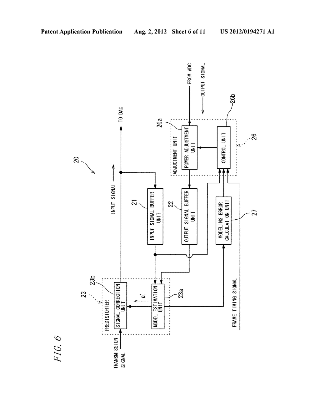 AMPLIFYING DEVICE AND WIRELESS TRANSMISSION DEVICE USING THE SAME - diagram, schematic, and image 07