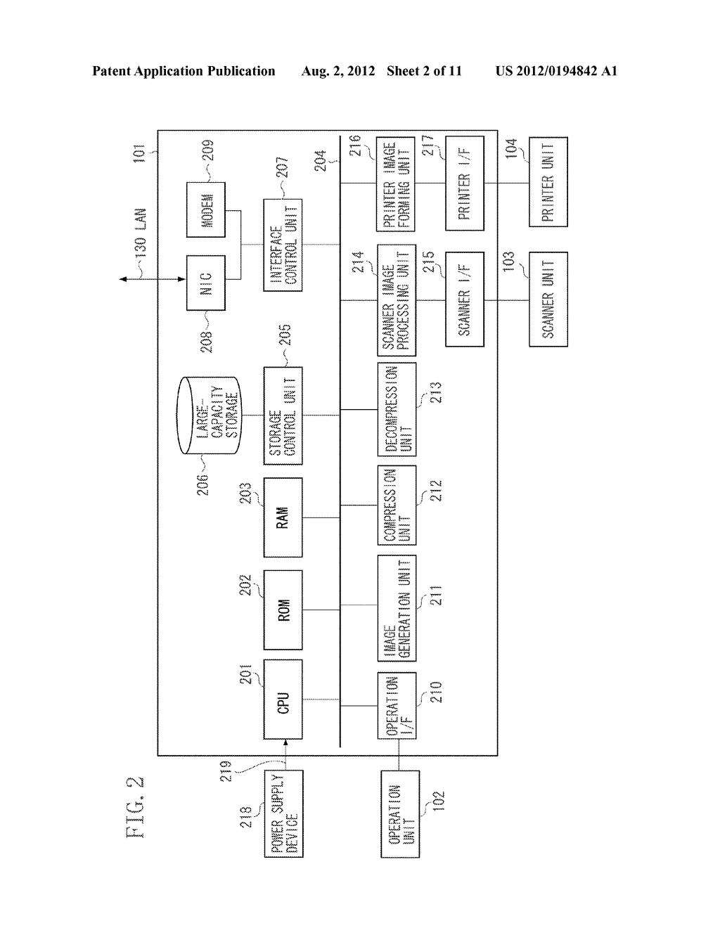 IMAGE PROCESSING APPARATUS, METHOD FOR CONTROLLING THE SAME, AND STORAGE     MEDIUM - diagram, schematic, and image 03