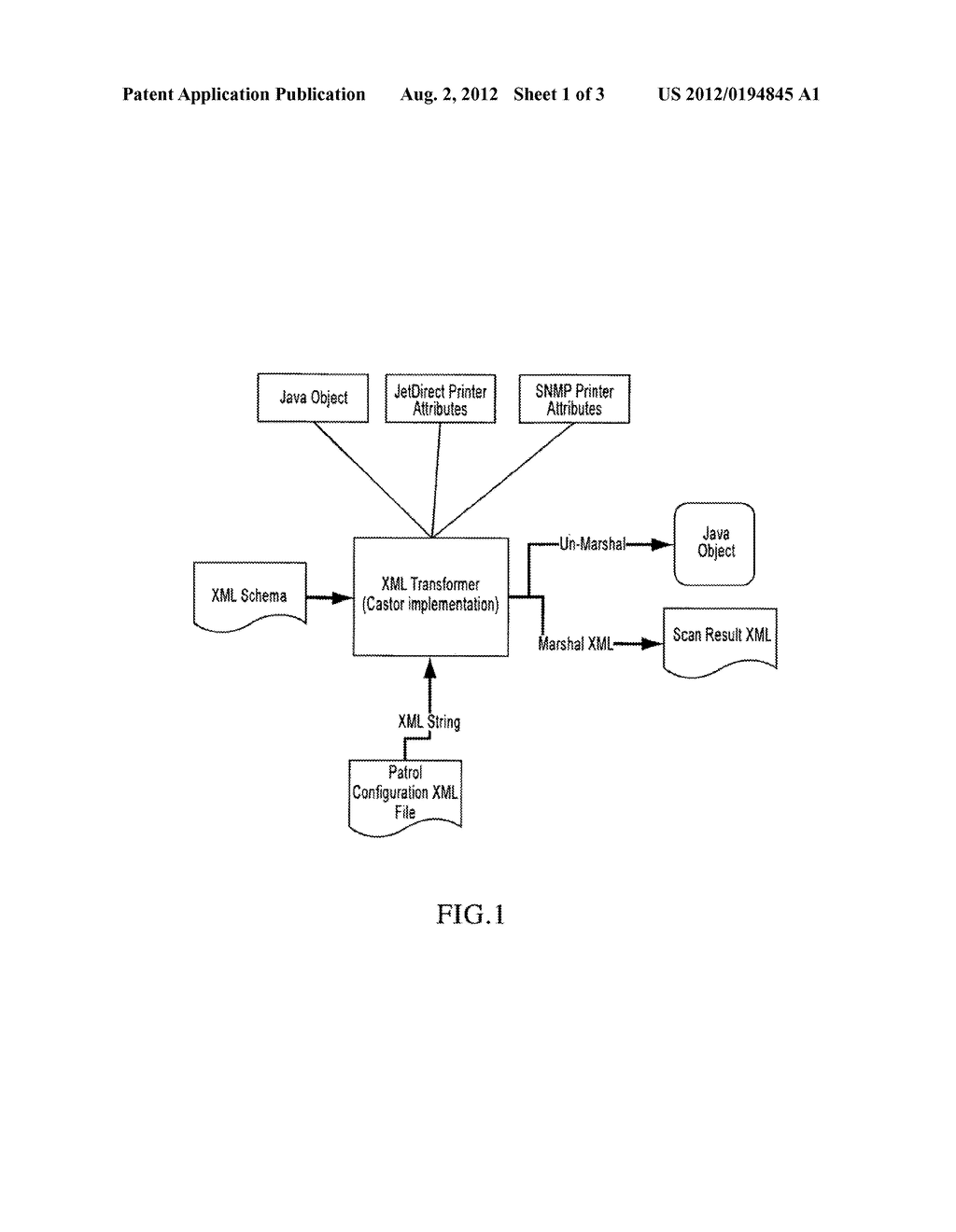 METHOD FOR TRANSFORMING AND TRANSPORTING PRINTER DATA OVER THE INTERNET IN     A SECURE AND RELIABLE MANNER - diagram, schematic, and image 02