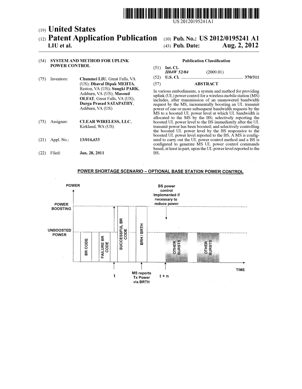 SYSTEM AND METHOD FOR UPLINK POWER CONTROL - diagram, schematic, and image 01
