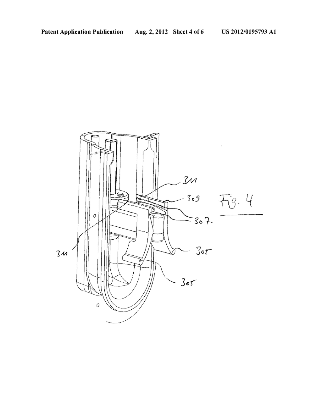 CLAMP MOUNTING FOR A SYRINGE OF A DOSING APPARATUS, DOSING APPARATUS AND     BLOOD TREATMENT APPARATUS - diagram, schematic, and image 05