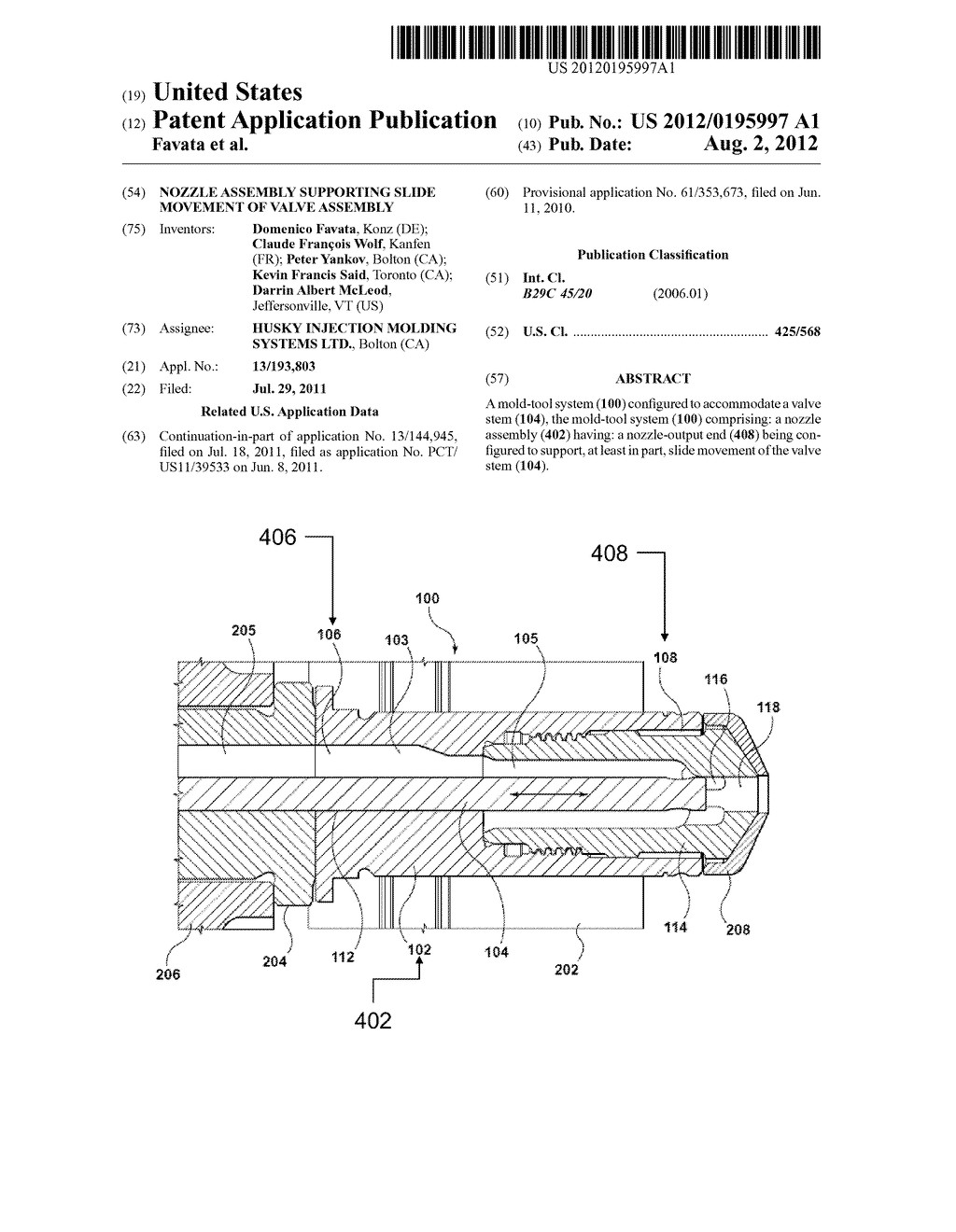 Nozzle Assembly Supporting Slide Movement of Valve Assembly - diagram, schematic, and image 01