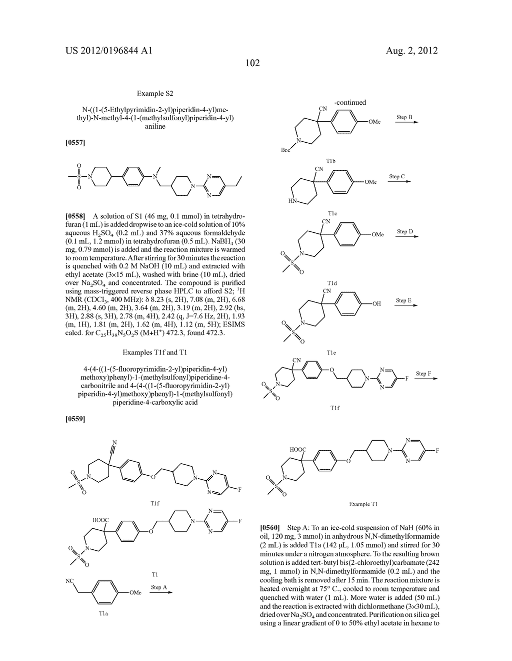 COMPOUNDS AND COMPOSITIONS AS MODULATORS OF GPR119 ACTIVITY - diagram, schematic, and image 103