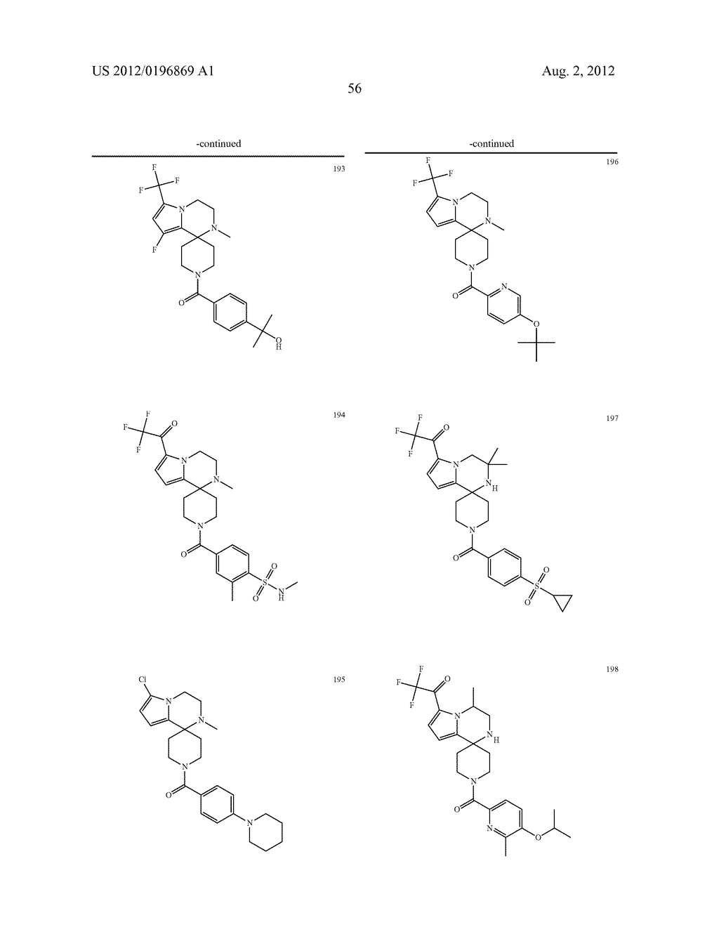 PYRROLOPYRAZINE-SPIROCYCLIC PIPERIDINE AMIDES AS MODULATORS OF ION     CHANNELS - diagram, schematic, and image 57