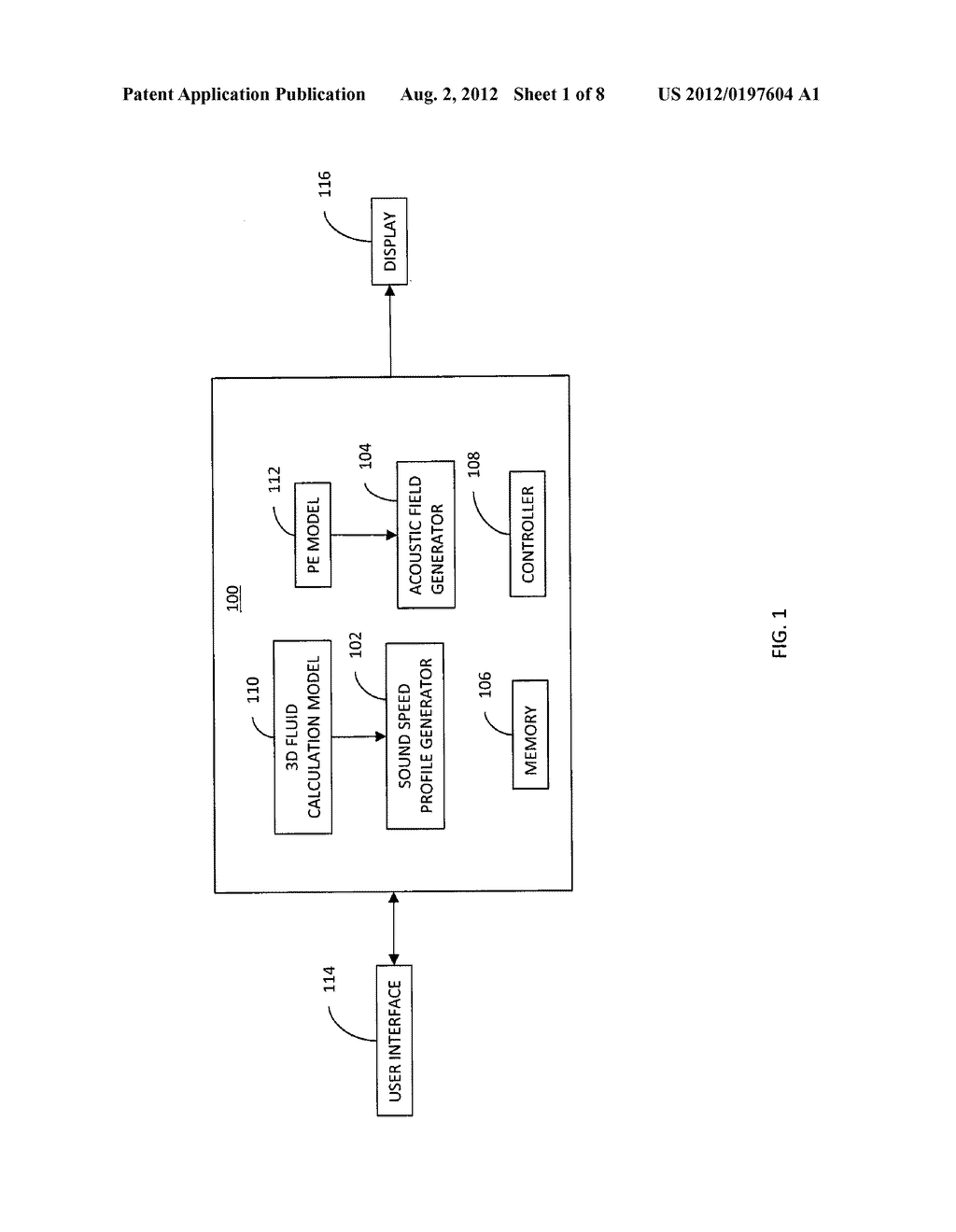 SIMULATOR AND METHOD FOR SIMULATING AN ACOUSTIC FIELD OF AN ACOUSTIC     WAVEGUIDE - diagram, schematic, and image 02