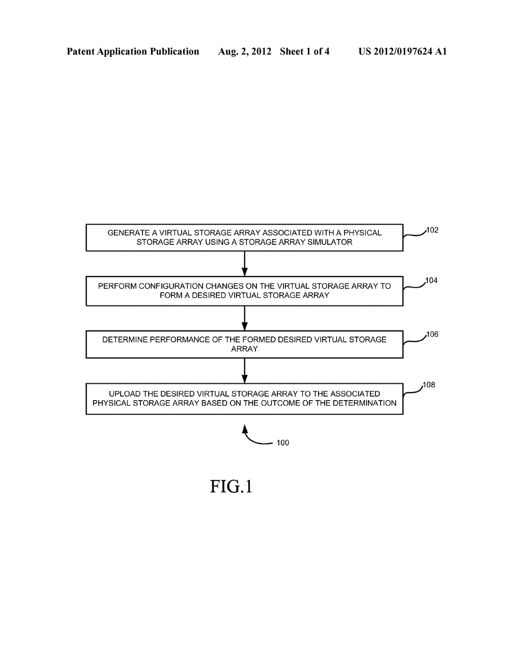 SYSTEM AND METHOD FOR MANAGING A STORAGE ARRAY USING SIMULATION - diagram, schematic, and image 02
