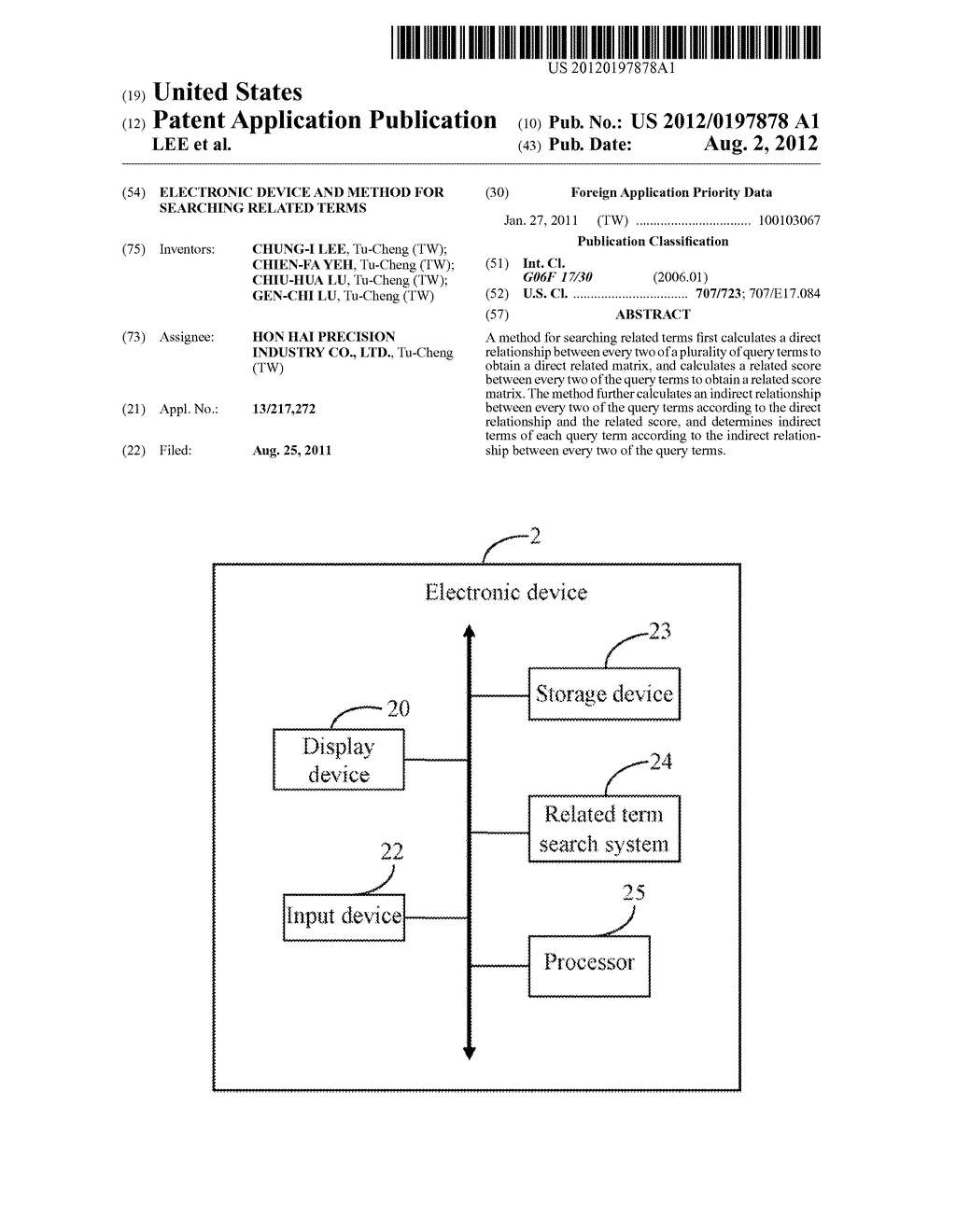 ELECTRONIC DEVICE AND METHOD FOR SEARCHING RELATED TERMS - diagram, schematic, and image 01