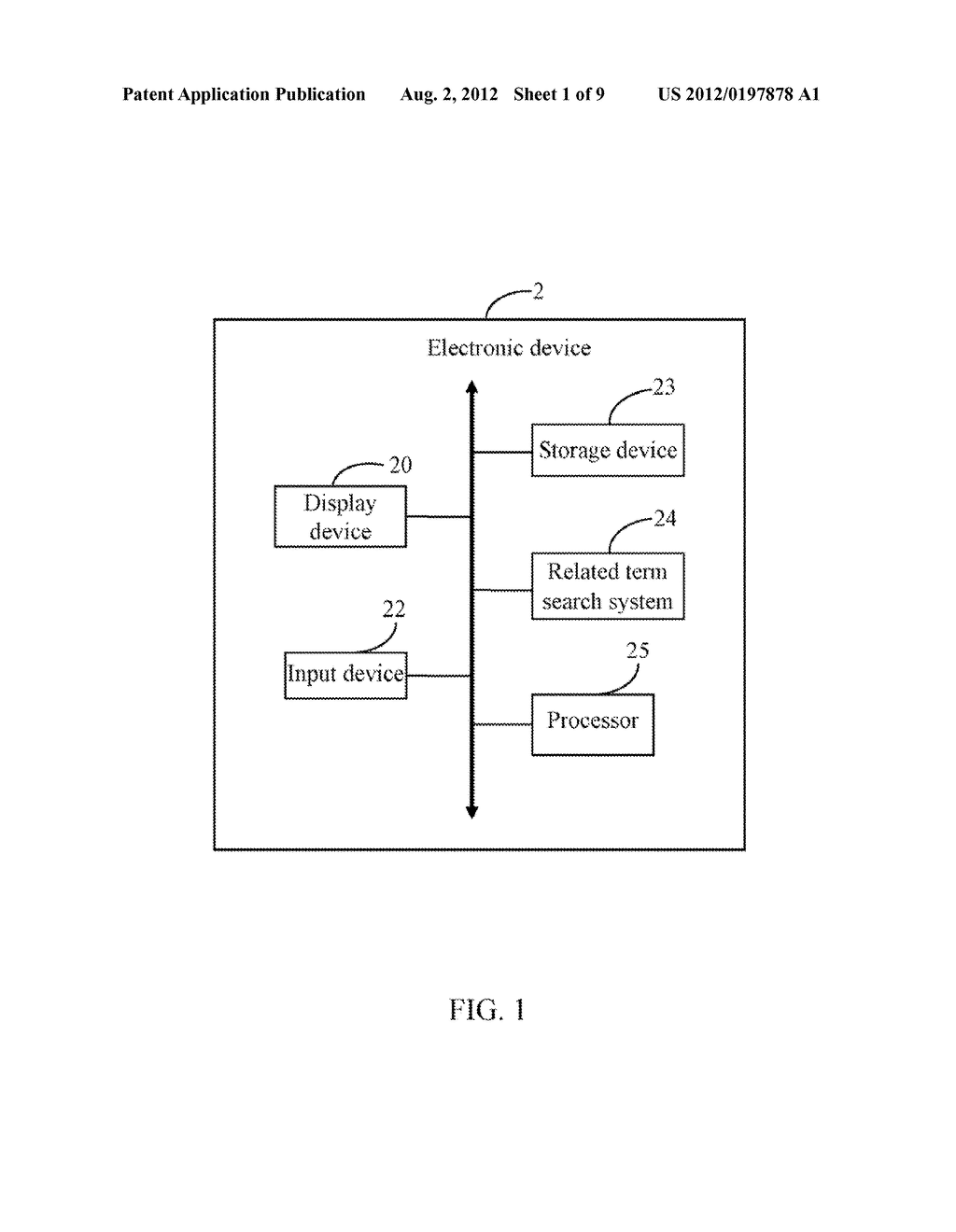 ELECTRONIC DEVICE AND METHOD FOR SEARCHING RELATED TERMS - diagram, schematic, and image 02