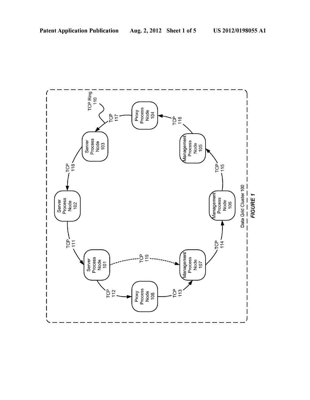SYSTEM AND METHOD FOR USE WITH A DATA GRID CLUSTER TO SUPPORT DEATH     DETECTION - diagram, schematic, and image 02