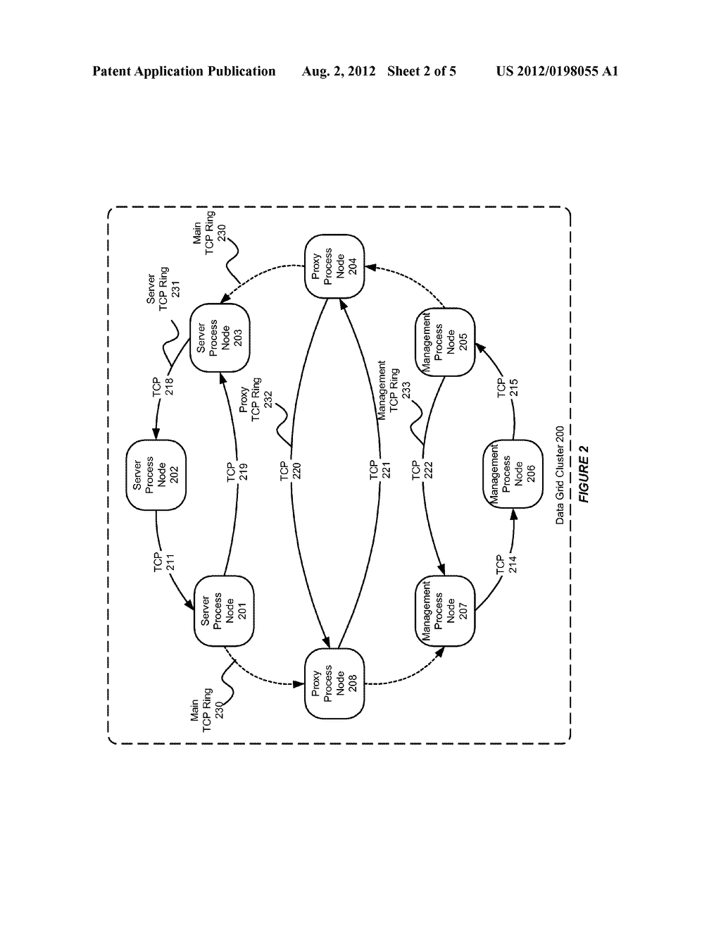 SYSTEM AND METHOD FOR USE WITH A DATA GRID CLUSTER TO SUPPORT DEATH     DETECTION - diagram, schematic, and image 03