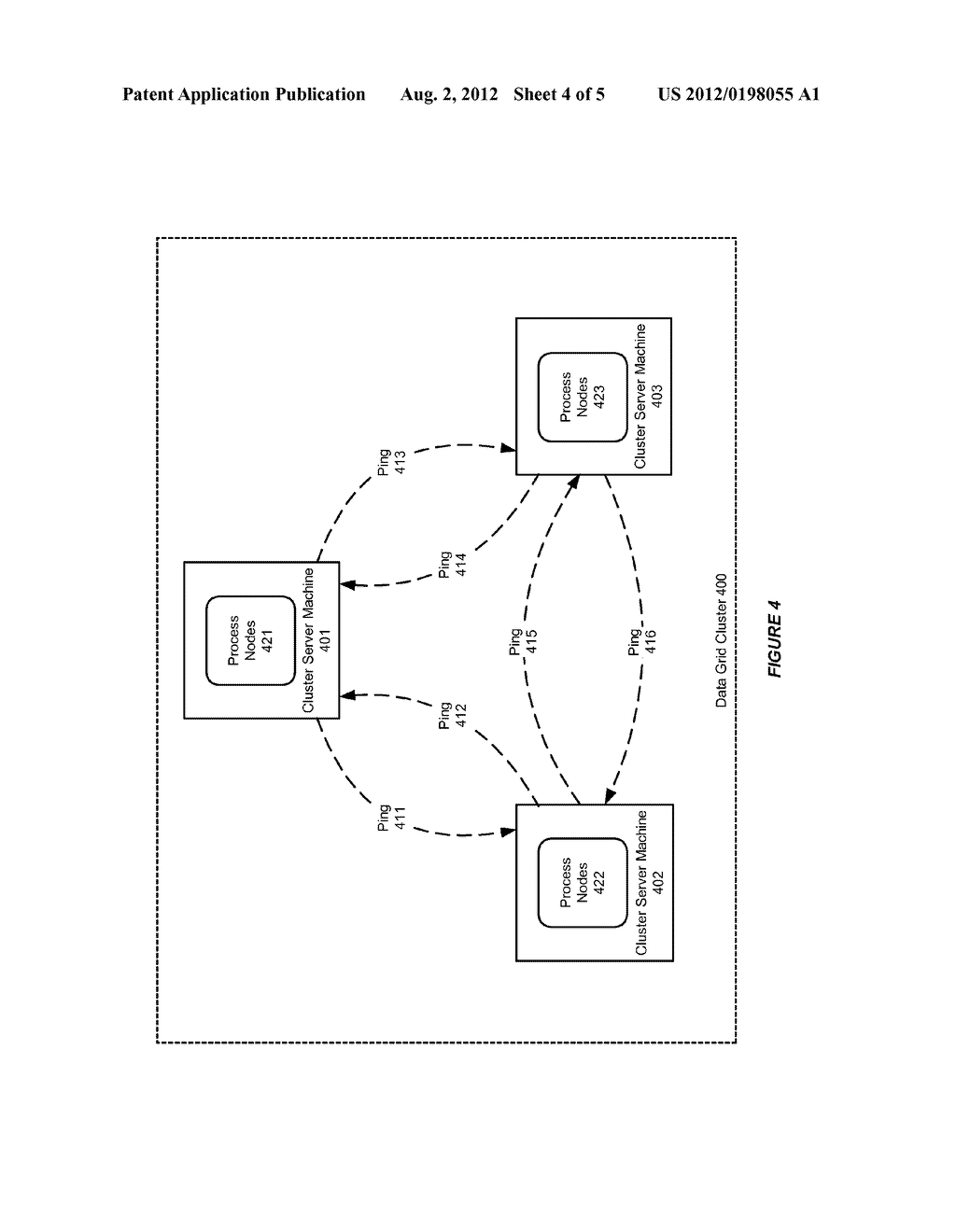 SYSTEM AND METHOD FOR USE WITH A DATA GRID CLUSTER TO SUPPORT DEATH     DETECTION - diagram, schematic, and image 05