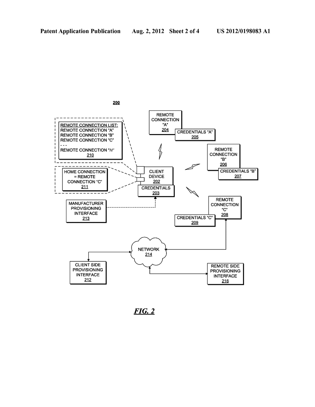 CLIENT DEVICE AND METHOD FOR FINDING AND BINDING TO A HOME CONNECTION - diagram, schematic, and image 03