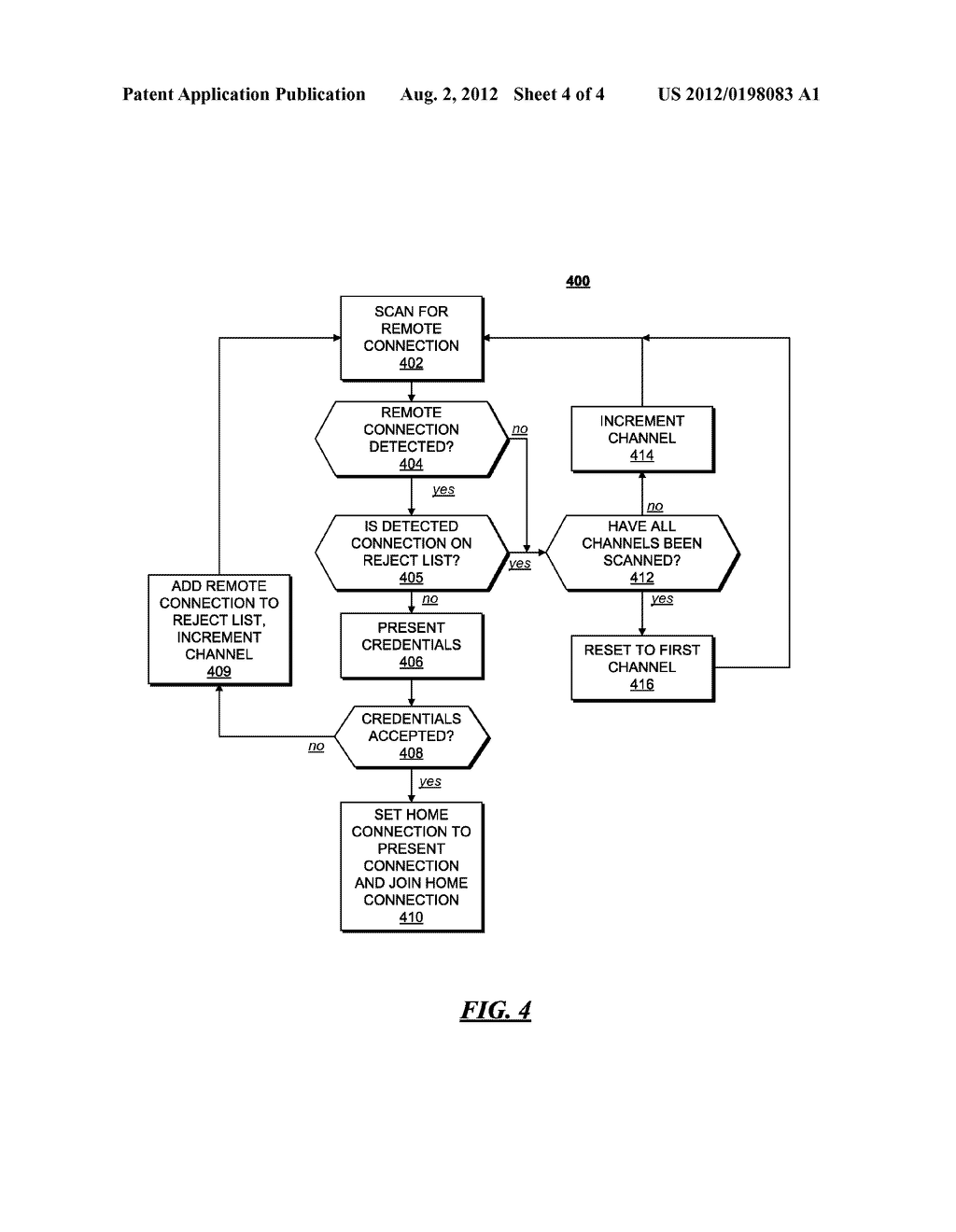 CLIENT DEVICE AND METHOD FOR FINDING AND BINDING TO A HOME CONNECTION - diagram, schematic, and image 05
